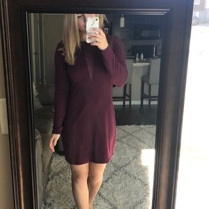 Long sleeve dress (burgundy)